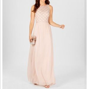 Adrianna papell blush bridesmaid dress